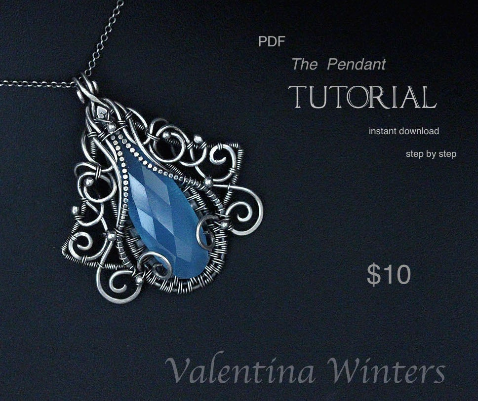 Tutorial pendant tutorial jewelry tutorial wire jewelry zoom aloadofball