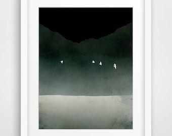 Schwarz und weiß druckt Meereswelt minimalistische Art schwarz und weiße Wand Kunst abstrakte Kunst skandinavischen Moderne Plakat nordischen Kunstdruck