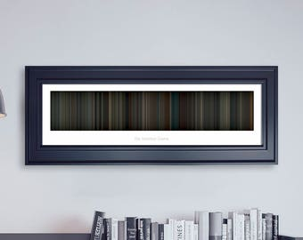The Imitation Game // Movie Poster // Movie Barcode // Oscar Film // Academy Awards // Wall Decor // Panoramic