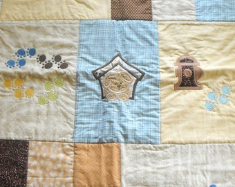 Machine Appliqued Baby Quilt