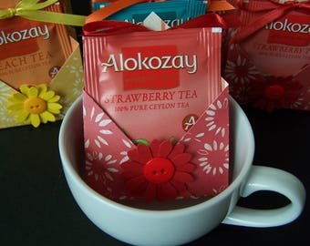 Tea Favors SET of 12 -  Spring or Summer Party Favors - Tea bag Holder - Tea Party Favors - Tea Favor - Flower Party Favors