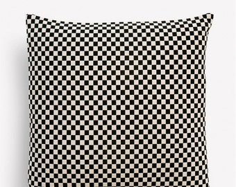 Checker MidCentury Modern Pillow Cover - Alexander Girard design - Black and Cream - Many sizes available