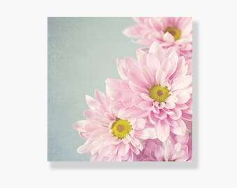 Pink flower photo canvas gallery wrap, flower canvas art, shabby chic decor, canvas wall art, nature photography - Sing Sweetly to me