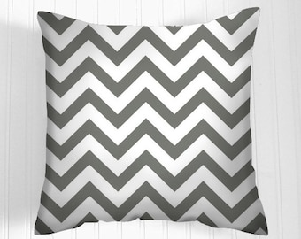Gray Chevron  Pillow Cover Decorative Pillow Size Choice Throw Pillow Pillows Grey  Lumbar Accent Pillows
