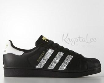 adidas superstar with rhinestones
