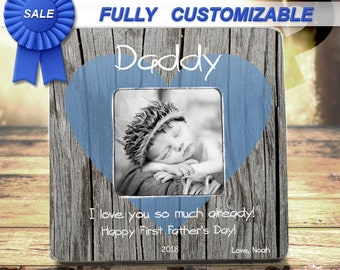 FIRST FATHERS DAY First Fathers Day Gift From Son New Dad Gift For New Dad New Daddy Gift Personalized Picture Frame For Husband Dad