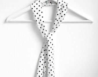 White Polkadot scarf