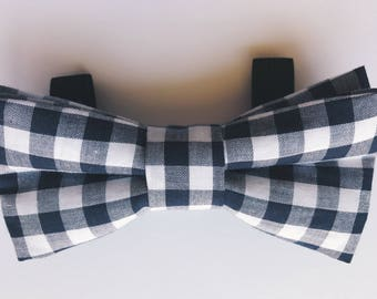Plaid Dog Bowtie