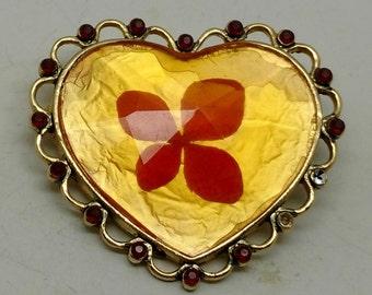 Vintage Rare Liz Clayborne Heart Brooch
