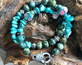 Million Dollar Baby - Turquoise Howlite natural stone Bracelet
