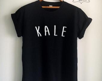 Vegan Shirt Vegan T Shirt Kale Shirt Kale T Shirt Vegan Merch Women Girls Men Tumblr Vegetarian Top Tee White/Grey/Black/Burgundy/Navy