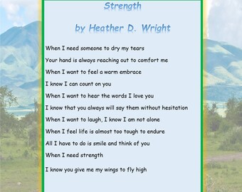 Strength - Printable Digital Download