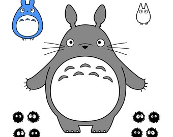 Totoro LARGE Vinyl Sticker Set
