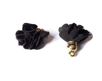 Black fabric tassel