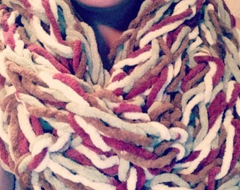 Big an bulky infinity scarf