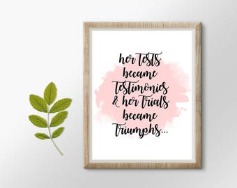Christian Print - Digital Download | Printable Art | Faith | Encouragement | Testimonies | Christian Art