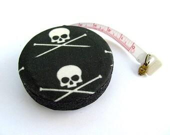 Retractable Tape Measure Knitting Needles and Skulls  Measuring Tape