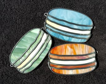 French Macaron Stained Glass Suncatcher - 4 Colors Available!