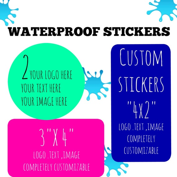 Custom Waterproof Stickers, Waterproof Labels