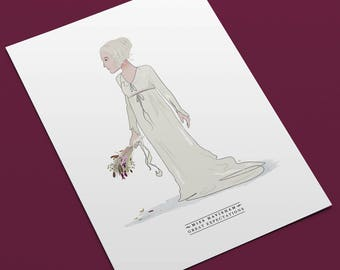 Miss Havisham - Great Expectations (A4 Art Print).