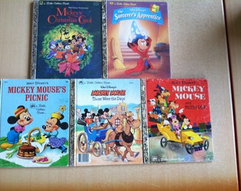 Little Golden Books Mickey Mouse set of 5