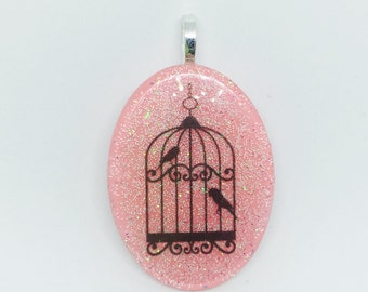 Cage Bird Song Color Sparkle Necklace
