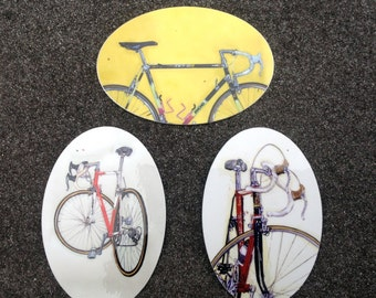 Classy Classic Road Bicycle Bike Art Vinyl Stickers