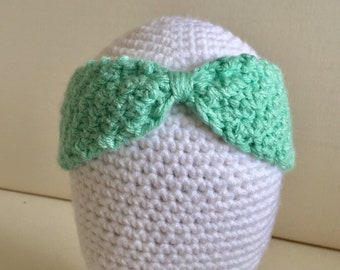 Baby Girl // Princess // Little Mermaid // Ariel // Baby // Headband // Crochet // Handmade // Flower // Disney // Green //