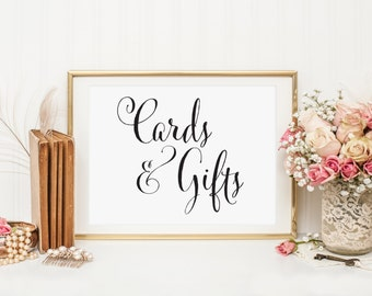 Wedding Cards and Gifts Table Sign, Cards Wedding Sign, Gifts and Cards Sign, Cards Sign for Wedding Cards and Gift Sign, Gift Sign, WCP04
