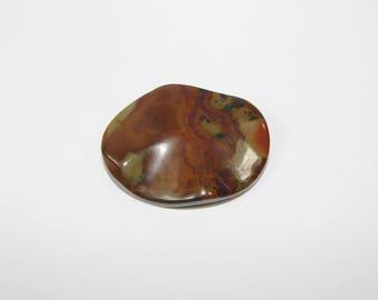 1 Pearl, Jasper artistic Brown puck 40.00 30.00 mm, sold individually. (9791030)