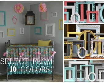 Custom Color Frame Set / Picture Frames / Gallery Wall Frame Set / Customizable Picture Frames / Baby Nursery Decor / Home Decor