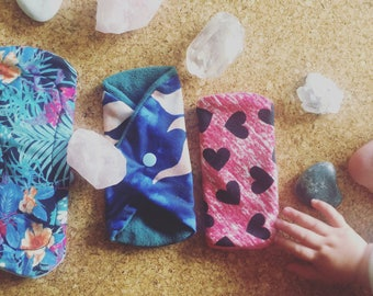 Handmade cloth moon/sanitary pads..... starter pack.