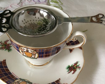 Decorative Chrome Plate Tea Strainer.  Perfect Addition to your Afternoon Tea Party.