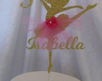 Ballerina Cake Topper, Ballerina Centerpiece, Ballerina Party Birthday Decorations - Custom Ballerina Cake Topper