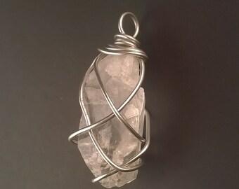 clear quartz crystal pendant / pendulum