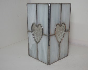 Stained Glass Lantern- White