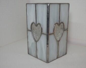 Glasmalerei Laterne - weiß