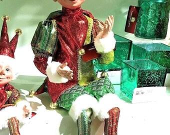 """Floridus 24"""" SHIMMER"""" Elf (Red & Green) FLO-XN705900"""