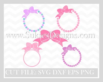 Bow svg, Bow Monogram SVG, DXF, PNG Files for Cricut and Silhouette cutting files, cheer bow svg, baby bow svg, monogram svg files