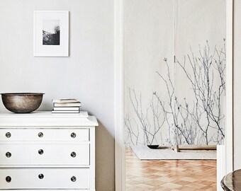 Sky Tree Noren Curtain, Door Curtain, Noren Fabric, Doorway Curtain, Noren W