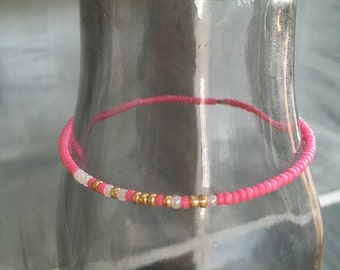 Strong Morse Code stretchy bracelet, Pick your own colors