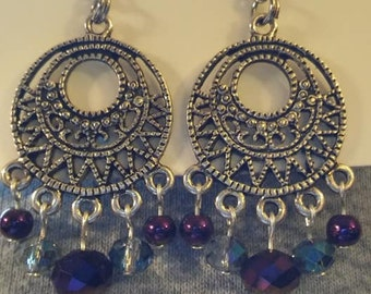 Exotic dangle earrings