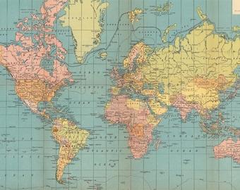 World map printable digital download 1922 vintage world map world map printable digital download 1930 vintage world map old world map with flags instant digital downloadintable mapp digital gumiabroncs Image collections