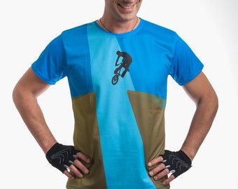 Cycling T-Shirt Beautiful Ride Athletic Apparel Dry Fit T shirt Bicycle theme Running Casual Clothing Sports Garment skate activewear tGqvmkywYO