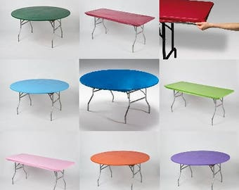 Kwik covers plastic fitted stretchable tablecloths