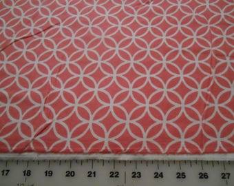 Snuggle Flannel Circle Pink Flannel Fabric