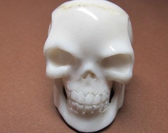 MS SALE Carved Cow Bone Skull 3-D 1-1/4 inch Bali Fair Trade