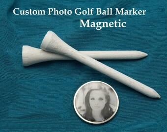 Custom Photo Magnetic Golf Ball Marker, Golf Marker, Personalized Golf Marker Personalized Gift