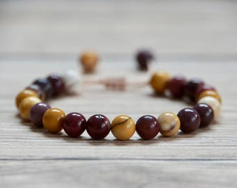 Semi-Precious Mookaite bracelet