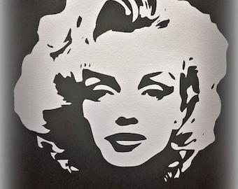 Marilyn Monroe Canvas Silhouette w/ qoute, Black and white Marilyn Monroe, Marilyn art, Marilyn wall hanging